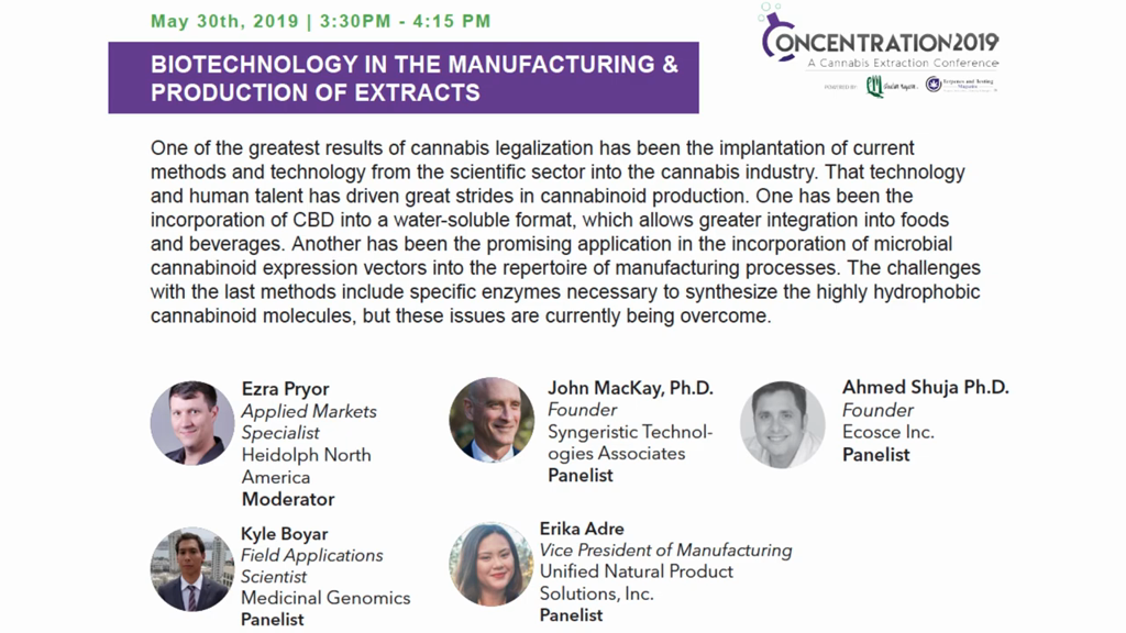 Biotechnology in the Manufacturing & Production of Extracts