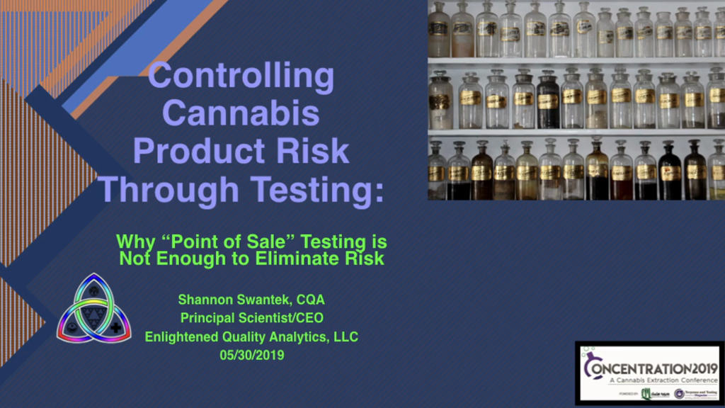 Controlling Product Risk through Testing in a cGMP