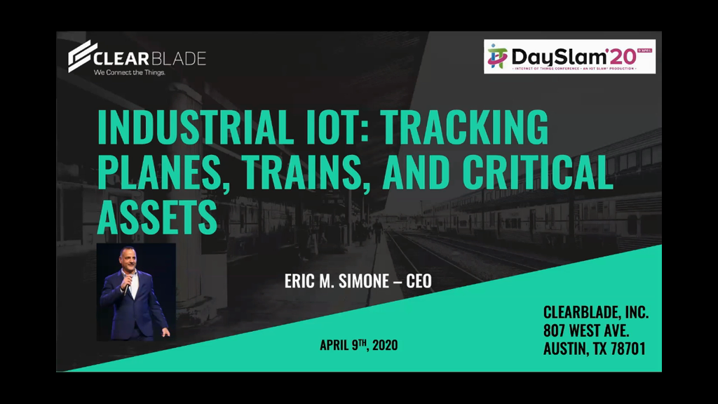 Keynote: Industrial IoT: Tracking Planes, Trains, and Critical Assets