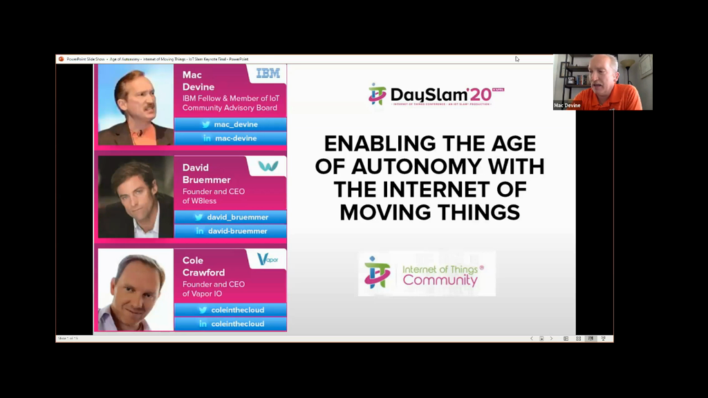 Keynote: Enabling the Age of Autonomy with the Internet of Moving Things