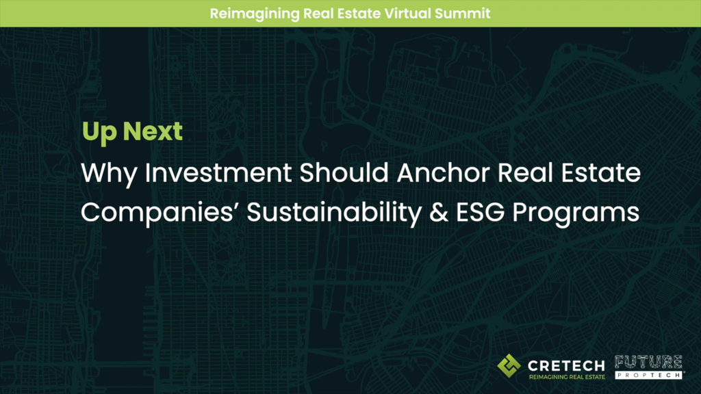 Why Investment Should Anchor Real Estate Companies' Sustainability & ESG Programs