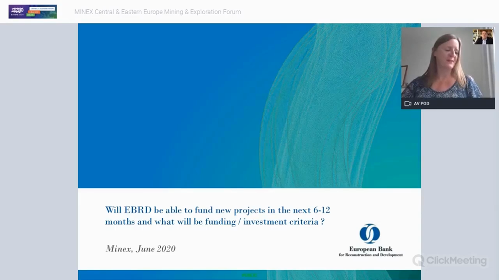 Will EBRD be able to fund new projects in the next 6-12 months and what will be funding / investment criteria?