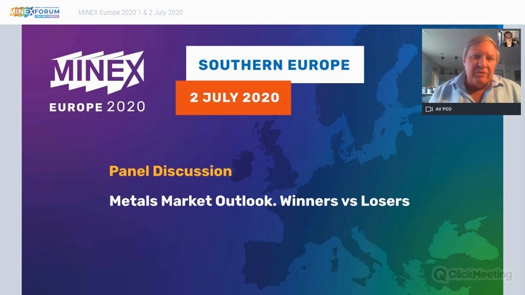 Panel discussion: Metals Market Outlook. Winners vs Losers