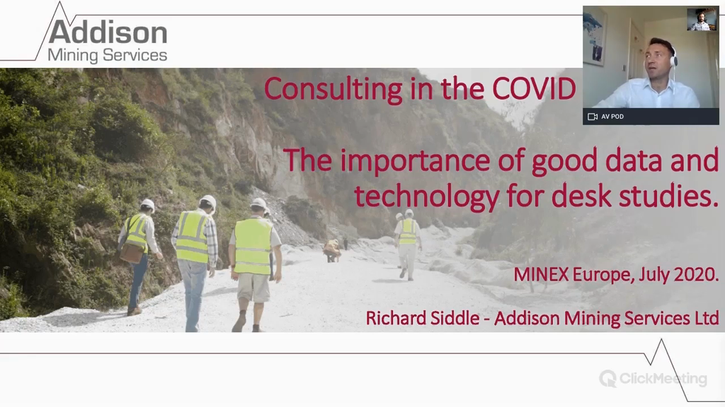 Consulting in the COVID pandemic, the importance of good data and technology for desk studies