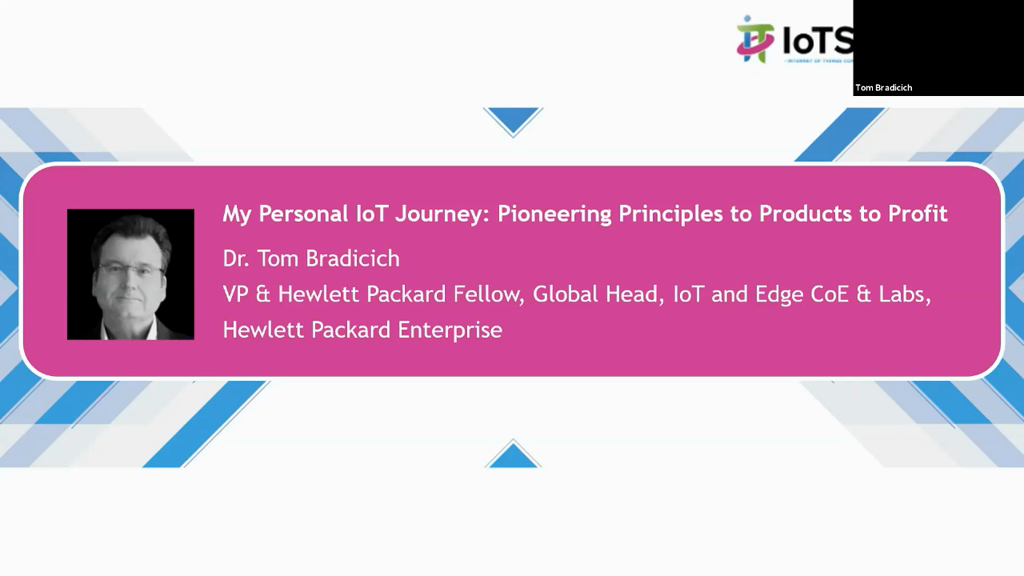 My Personal IoT Journey – Pioneering Principles to Products, to Profit