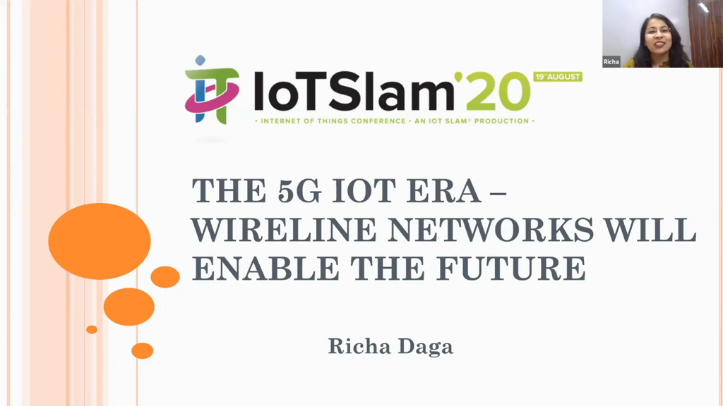 The 5G IoT Era – Wireline Networks will enable the future