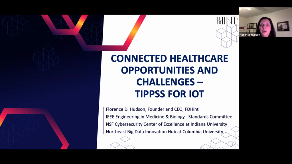 Connected Healthcare Opportunities and Challenges – TIPPSS for IoT (Trust, Identity, Privacy, Protection, Safety, Security)