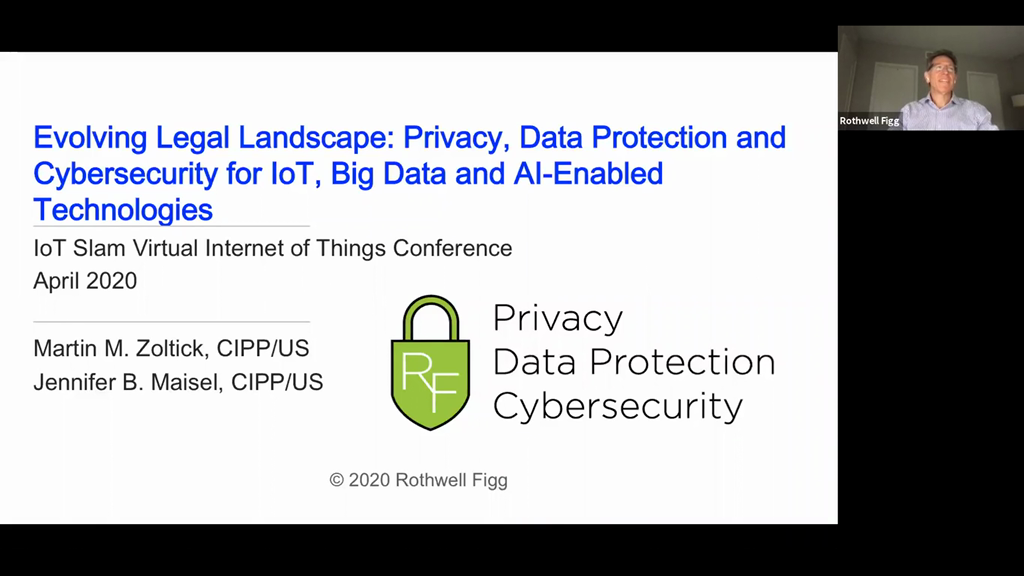"Evolving Legal Landscape: ""Privacy Data Protection and Cybersecurity for IoT Big Data and AI-Enabled Technologies"""