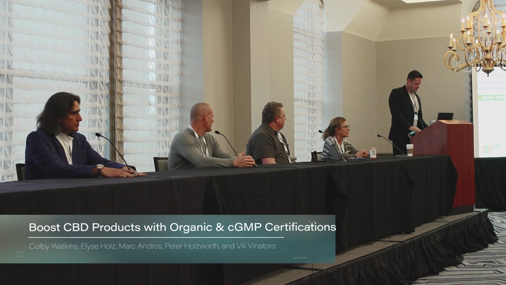 Boost CBD Products with Organic & cGMP Certifications